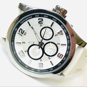 G by Guess Big Face 44mm White Watch